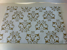 White and Gold Festive Printed Placemat - 33 x 48cm