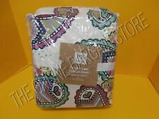 Pottery Barn Teen PBT Paisley Floral Flower Power Chamois Bed duvet cover Twin