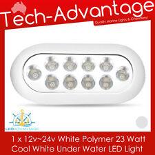12~24V 23W WHITE LED BOAT UNDERWATER BAID SQUID TRANSOM WAKE BOARDING LED LIGHT