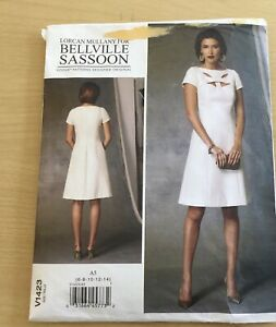VOGUE  BELLVILLE SASSOON SEWING PATTERN DRESS SIZE 6-14