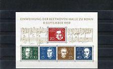 BRD Block 2 postfrisch Einweihung der Beethovenhalle Bonn - b0319