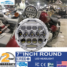 "7"" Daymaker Chrome LED Light Bulb Headlight Kawasaki Vulcan Nomad 800 900 1500"
