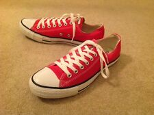 Converse All Star Mens Red Low Top Tennis Shoes- Sixe 10 M