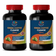 Fat Burner Powder Pills - Green Coffee Cleanse 800mg - Slim Coffee Caps 2B