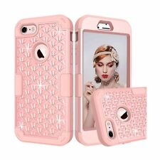 iPhone 7 Case, GreenElec [Diamond Studded Bling Rhinestone] Hybrid Heavy Duty...
