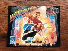 Last Action Hero NES Nintendo Instruction Manual Only