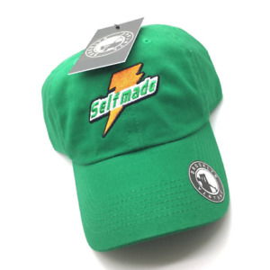Green Selfmade Dad Cap Hat