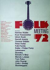 FOLK MEETING - 1972 - Konzertplakat - Wader - Kiesewetter - Roski - Poster