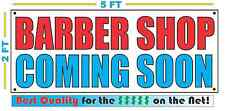 BARBER SHOP COMING SOON Banner Sign NEW Larger Size Best Quality for the $$$