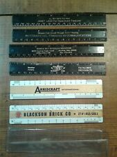 NEAT LOT OF ADVERTISING RULERS  2 ARE WOOD WITH PLASTIC NEAT LOT