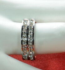 Steel by Design Double Row Princess Cut Ring SZ- 7