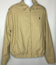 Polo by Ralph Lauren Mens Long Sleeve Zip Up Windbreaker Jacket Size 2XL Tan