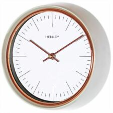 Henley 25cm Mini Porthole Design Sage Case Rose Gold Trim Silent Wall Clock Time