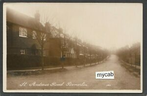 Postcard Bemerton nr Salisbury Wiltshire houses in St Andrew's Road early RP