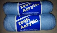 Acrylic Yarn Blue 2 1/2 skeins baby blue 2 ROLLS