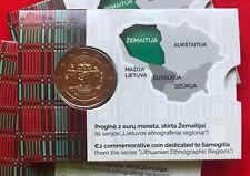 """Lithuania 2 euro 2019 """"Zemaitija - Samogitia"""" BiMetallic CoinCard BU"""