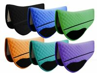 Horse Quilted ENGLISH SADDLE PAD Trail Contour Fleece Lined 72102-112