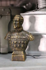 Bronze figurine bust of the commander of the army of the USSR Zhukov Georgy