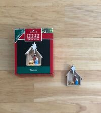 Hallmark Keepsake Miniature Ornament, 1990 Nativity