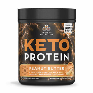 Ancient Nutrition Keto Protein - 450 g (Peanut Butter),Clearance for exp 01/2021