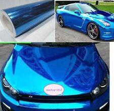 "New 12""x60"" Blue Car Decal Mirror Chrome Sheet Wrap Vinyl Sticker Film Decal"