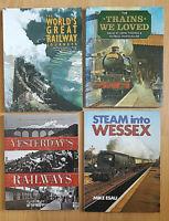 4 Railway Books Locomotive History Ephemera Train Railwayana Photographs Joblot