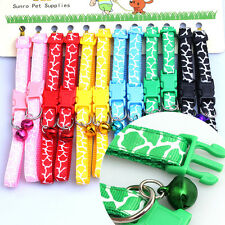 Cat Collar Dog Collars wholesale lot 12PCS Pet Puppy Necklace W/Bell XXXS/XXS/S