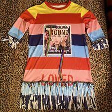 Handmade Rainbow femme fatale rainbow top - Britney Spears Nicki Minja Kesha