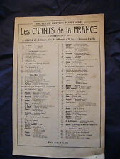 Partition Les chants de la France Noel  Music Sheet 1903