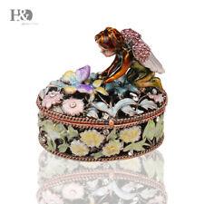 Angel Design Hand Printed Treasures Trinket Box Jewelry Rings Holder Lady Gifts