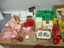 Marx Miniature Furniture, Huge Lot 70 Plus Pieces, Nursery w/Decals, LOOK