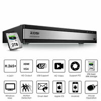 ZOSI H.265 16 CH 720P DVR HD with Hard Drive CCTV Camera Security System 2TB