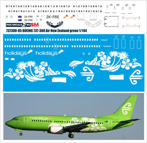 1/144 PAS-DECALS EASTERN EXPRESS DACO BOEING 737-300 Air New Zealand green