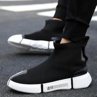 2019 Fashion Shoes High Top Casual For Men Breathable Flats Platform Sock Walkin