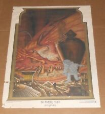 Steve Hickman The Invisible Thief Poster Print 1976 Original Fantasy