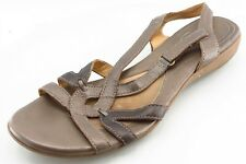 Naturalizer Size 9.5 M Brown Slingback Leather Women Sandal Shoes