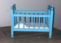 RARE Mattel Viacom 1997 Rugrats Tommy's World Playset BLUE BABY CRIB ONLY