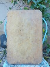 """19"""" Large antique & rustic French Cutting Board with Iron Handle"""