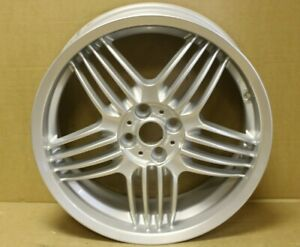 "1 GENUINE ORIGINAL MINI COOPER R50 18"" ALPINA DYNAMIC D02 ALLOY WHEEL RIM SILVER"