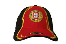 PORTUGAL BLACK RED  COUNTRY FLAG  ON BRIM  EMBOSSED HAT CAP.. NEW