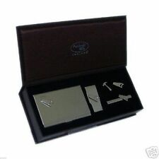 Saw Cufflinks Tie Clip Money Clip & Card Case Gift Set X4IN1 - 7