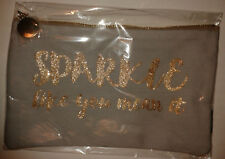 Nails Inc Make-up/Cosmetics bag 'Sparkle like you mean it' gold-tone slogan