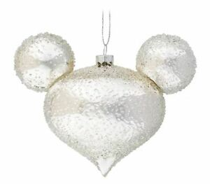 Disney Parks Silver Ice Icon Ornament - Mickey Mouse Icon - Drop