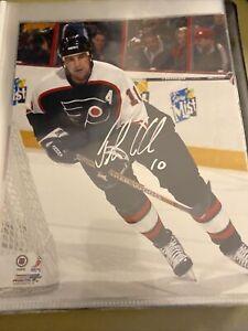 John LeClair Philadelphia Flyers Signed Auto 8x10 Photo