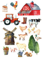 Farm Animals Childrens Nursery Wall Stickers
