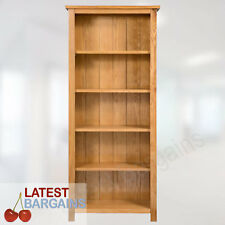 5 Tier Wooden Bookcase Book Shelf Furniture Storage Timber Oak Display Unit