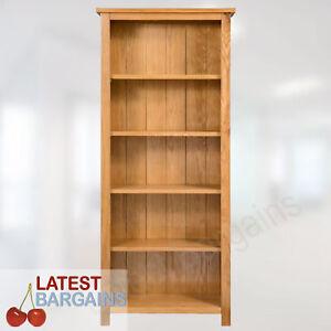 5 Tier Wooden Bookcase Book Shelf Furniture Storage Timber Oak Display Unit