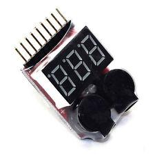 Buzzer 1-8S Lipo Alarm Warner Schutz·Checker Voltage Buzzer Pieper LED Anzeige/