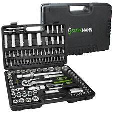 STARKMANN 108tlg Steckschlüssel-Satz Knarren Ratschen Werkzeug Kasten Box Set