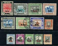 SUDAN (SG) - 1951 KGVI Set to 50PT 'CARMINE & BLACK' FU SGØ67-Ø83 Cv £40 [A7312]